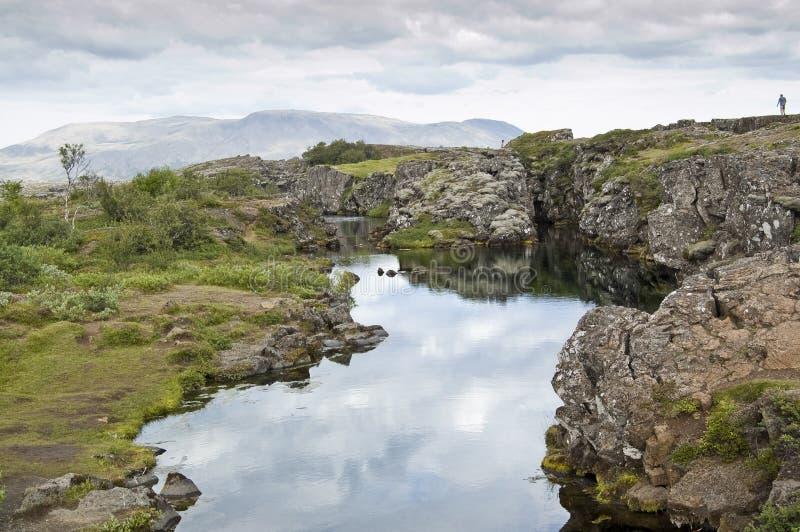 iceland park narodowy thingvellir fotografia stock