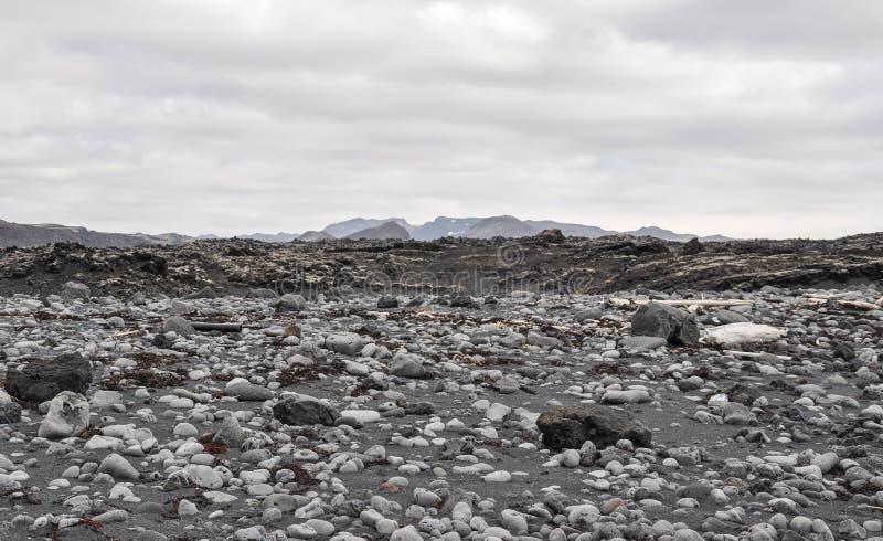 Iceland parka narodowego Skalisty krajobraz fotografia stock