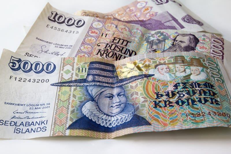 Iceland pieniądze zdjęcia royalty free