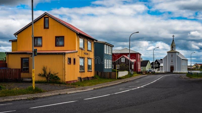 Iceland - Quiet Little Fishing Village - Eyrarbakki. Iceland stock images