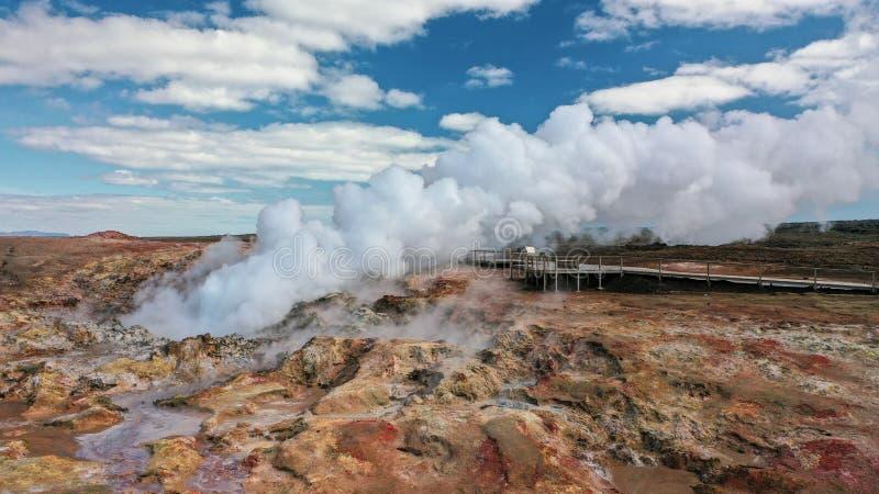 Iceland, Reykjanes, Gunnuhver. Hotsprings. Geothermal area royalty free stock photos