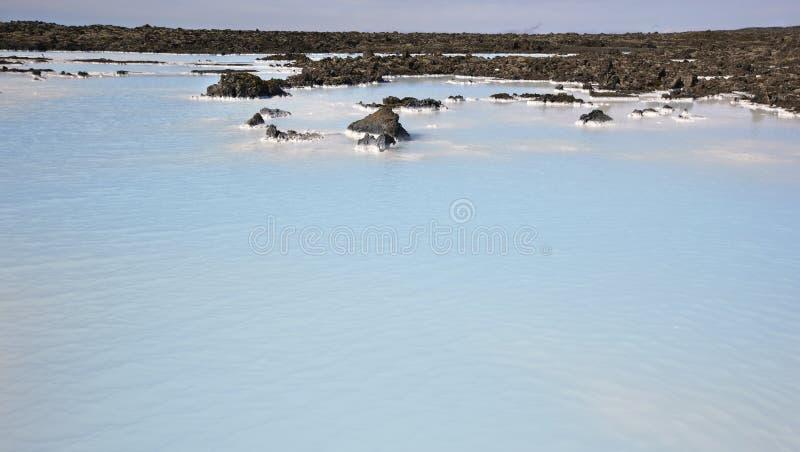 Iceland Reykjanes półwysep błękitna laguna Geotermiczny zdrój zgrzytnięcie obraz royalty free