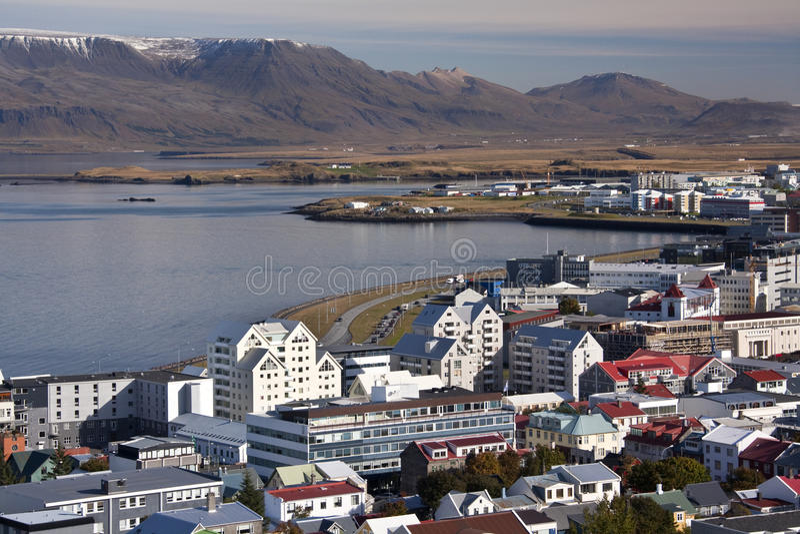 iceland reykjavik arkivbild