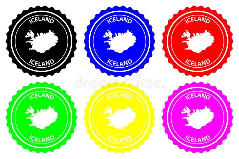 Iceland rubber stamp royalty free illustration