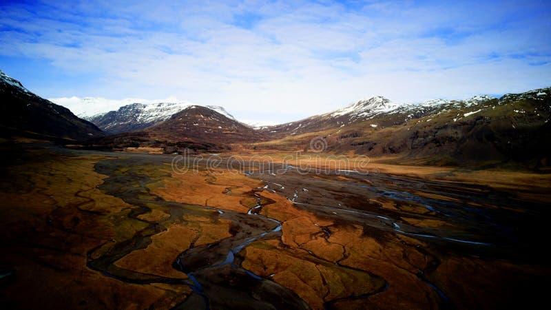 Iceland ` s krajobraz od wysokości above obraz royalty free