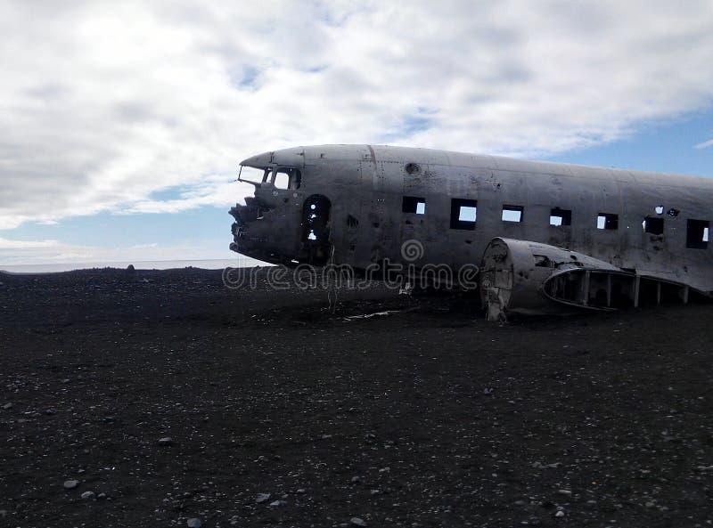 Iceland samolot obrazy stock
