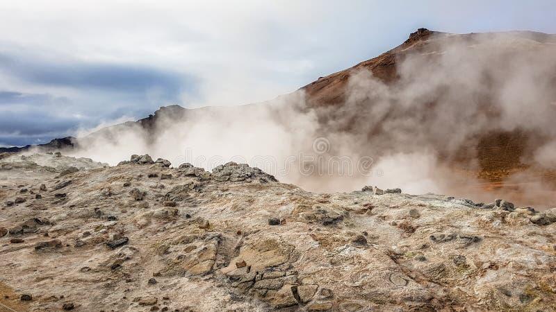 Iceland - Smoking vulcano royalty free stock photos