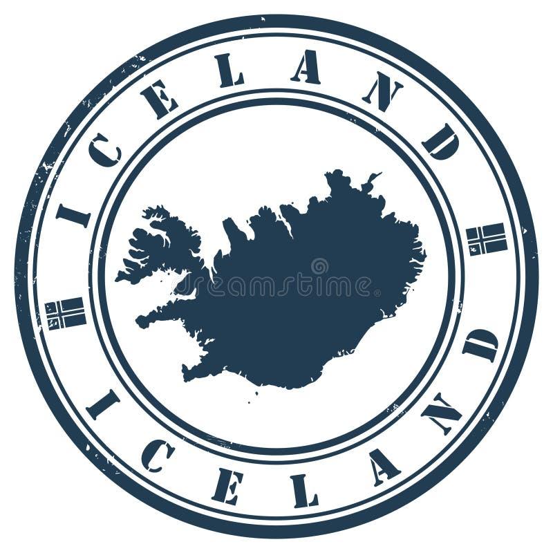 Iceland stamp. Iceland Grunge rubber stamp vector illustration