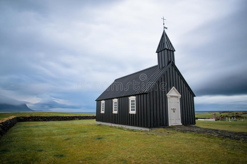 Iceland Storm Church royalty free stock image