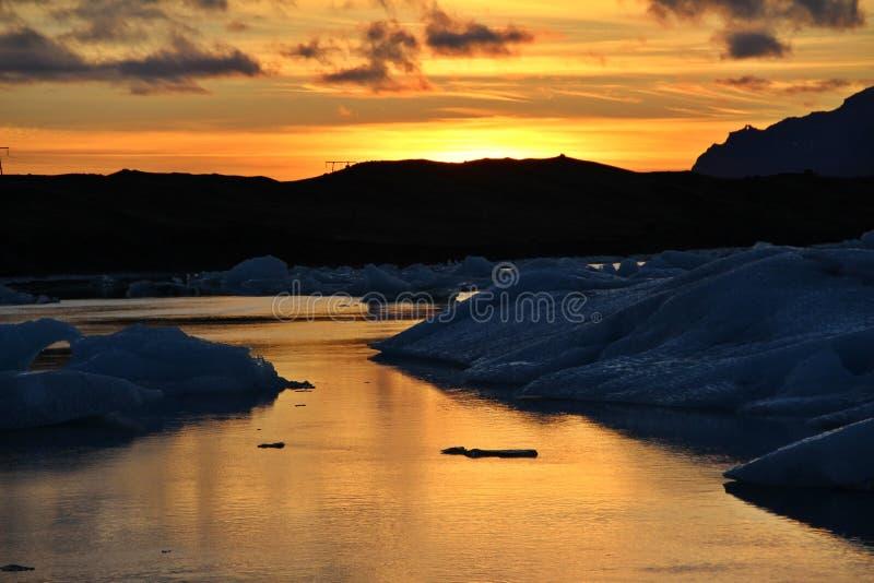 Iceland sunset stock photo