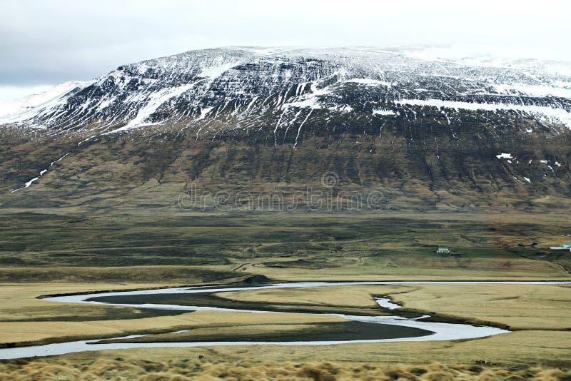 Iceland surowa przyroda obraz royalty free