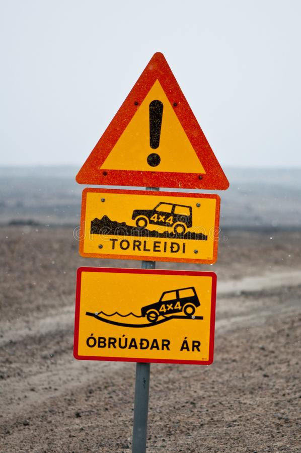 Free Iceland Traffic Signs Royalty Free Stock Images - 23478879