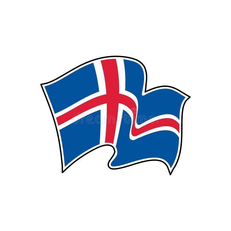 Iceland vector flag. National symbol of Iceland. Flag of Iceland. Iceland vector flag. National symbol of Iceland vector illustration