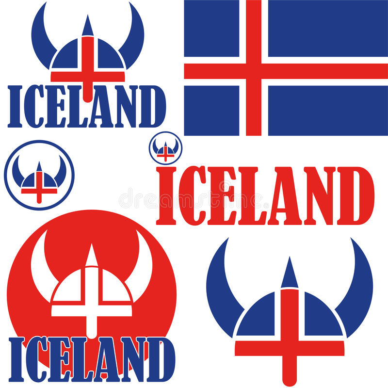 Iceland. Vector illustration (EPS 10 royalty free illustration
