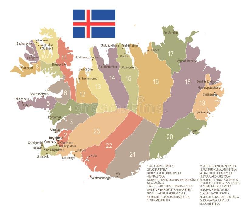 Iceland vintage map and flag detailed vector illustration stock download iceland vintage map and flag detailed vector illustration stock illustration illustration of gumiabroncs Image collections