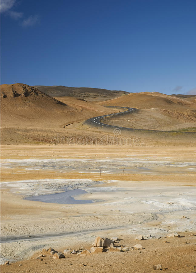 Iceland Volcanic Desert Landscape Europe Nature Stock Photography