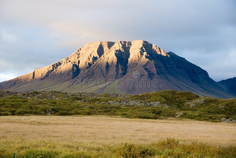 iceland vulkan royaltyfri fotografi
