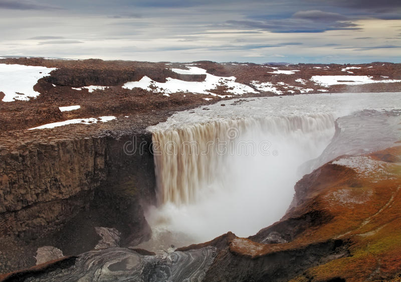 Iceland waterfall - Dettifoss. At day royalty free stock images