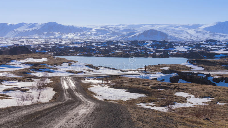 Iceland winter season natural landscape background. Country site royalty free stock images