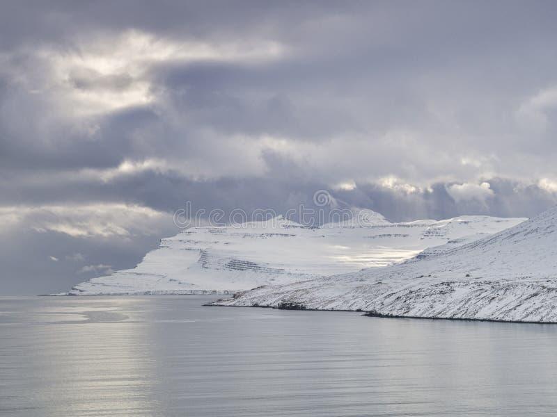 Iceland Wschodni fiordy obraz stock