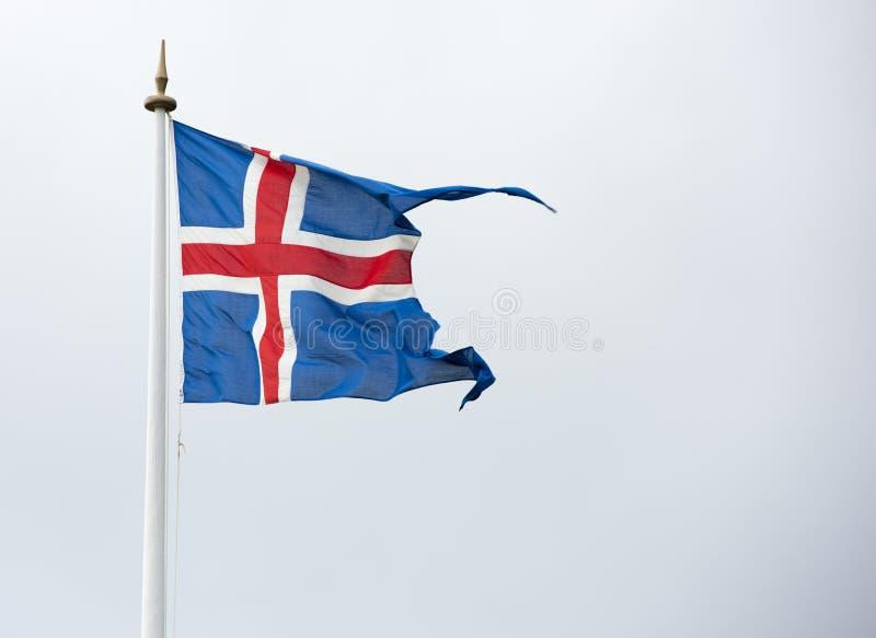 Iceland zaznacza Islandzką flaga - flaga Iceland - obrazy royalty free
