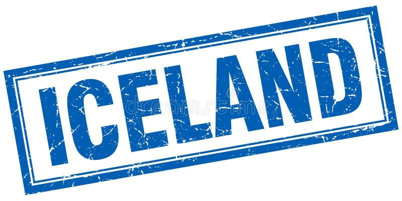 Iceland znaczek ilustracja wektor