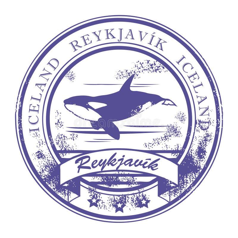 iceland znaczek Reykjavik ilustracja wektor