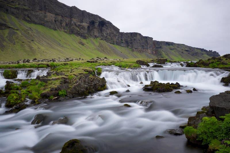 Icelandic водопад стоковые фотографии rf