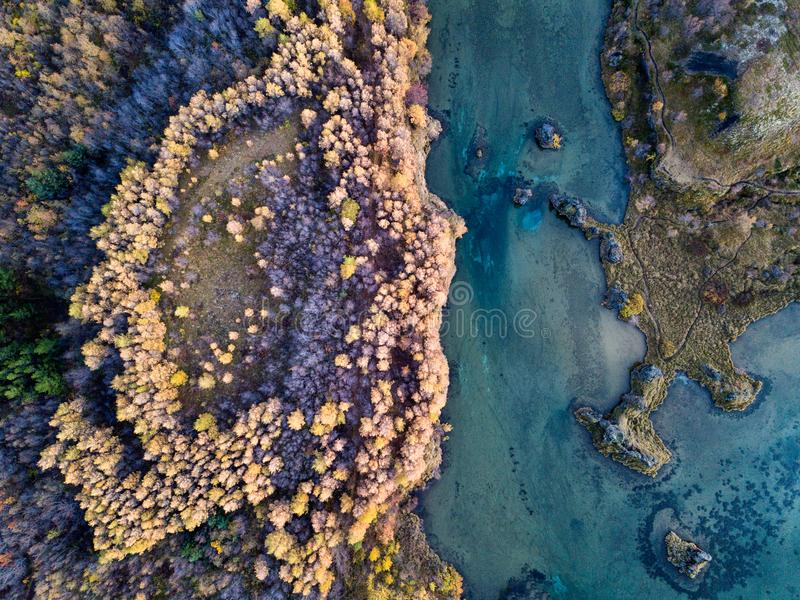 Download Icelandic Aerial Photography Captured By Drone Stock Photo