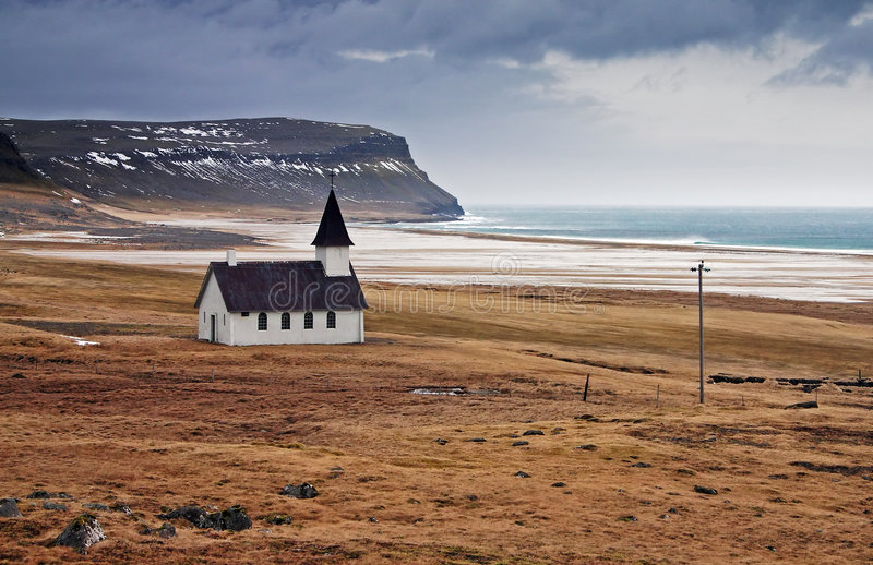 Icelandic Church stock photo