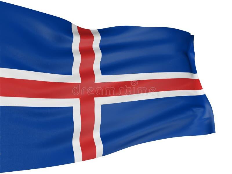 Icelandic för flagga 3d