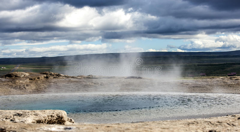 Icelandic Geyser. Geyser, Haukadalur, golden circle near Reykjavik in Iceland stock photo