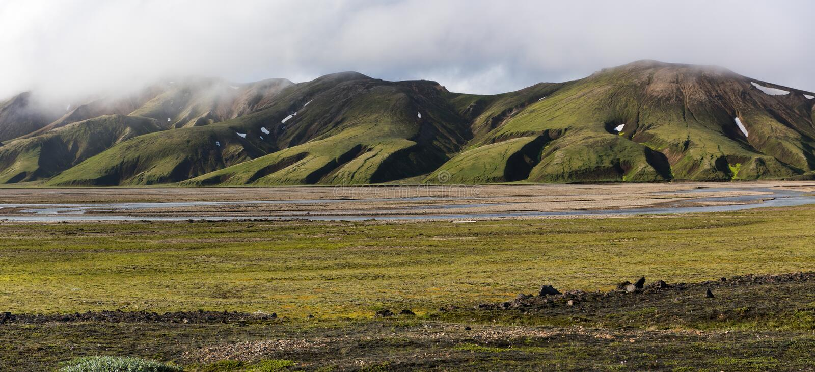 Icelandic highlands royalty free stock photo