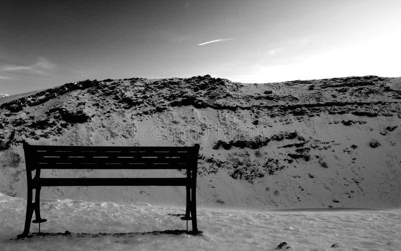 icelandic krajobrazu siedzenie zdjęcie royalty free