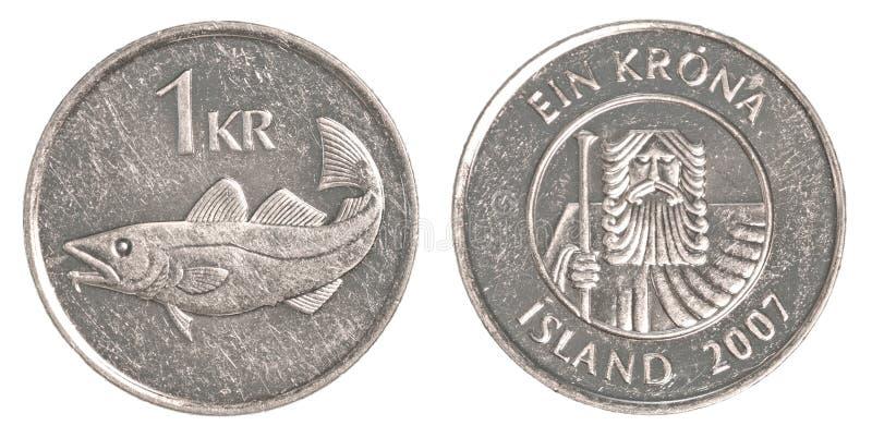 1 icelandic krona coin royalty free stock image