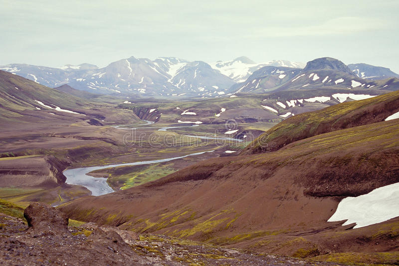 Download Icelandic landscape stock photo. Image of rock, river - 25302672