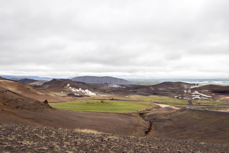 Geothermic landscape Iceland royalty free stock photography