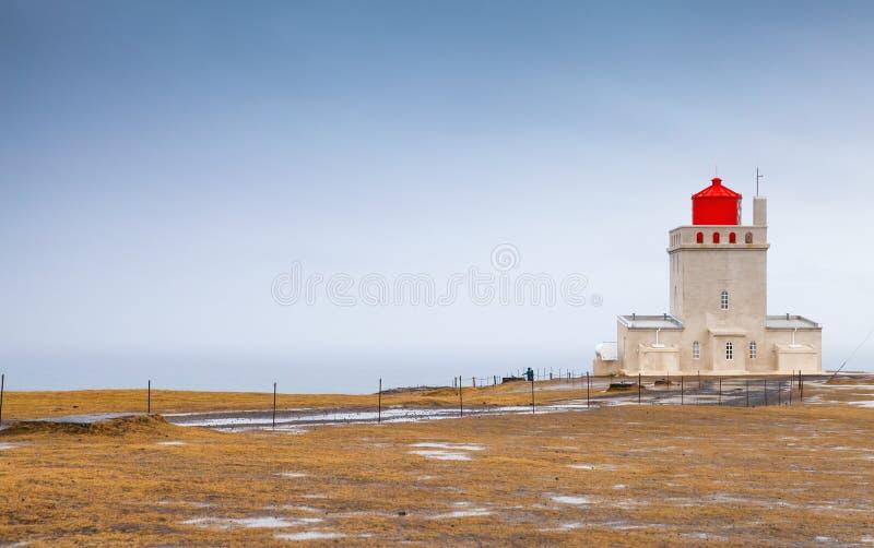 Icelandic lighthouse Dyrholaey, Vik cape stock photos