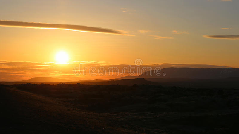 icelandic słońca fotografia stock