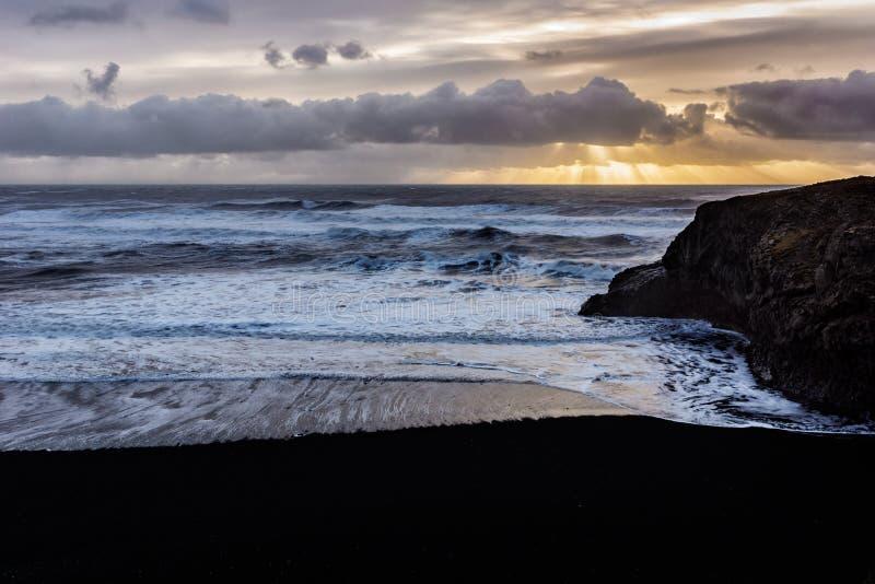 Icelandic sunrise stock photo