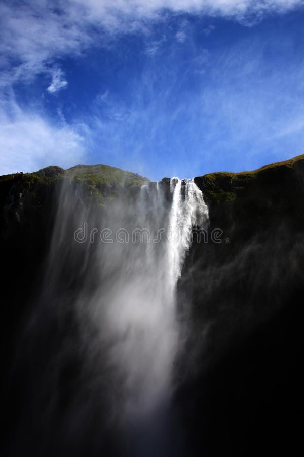 Icelandic waterfall stock photo