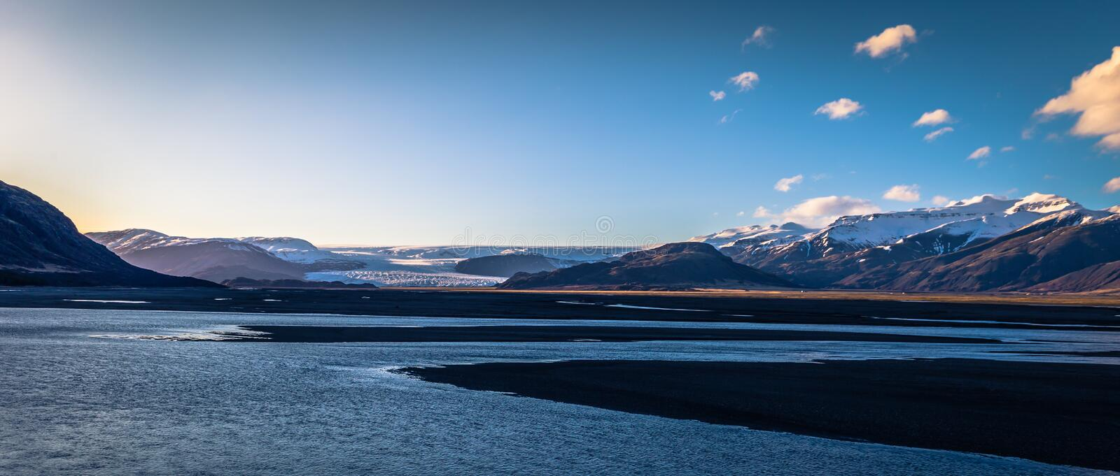 Icelandic wilderness - May 05, 2018: Mountains in the wilderness of Iceland stock photography