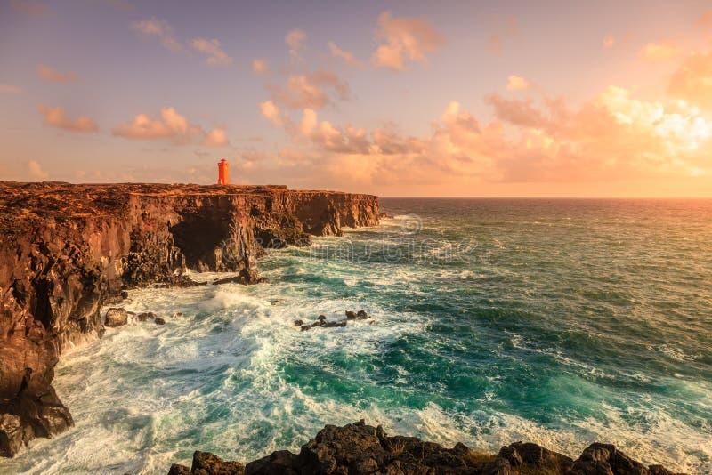 Icelandic wybrzeże obrazy royalty free