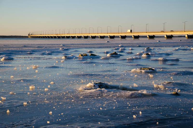 Download Icescape by the bridge stock image. Image of nordic, landscape - 65432701