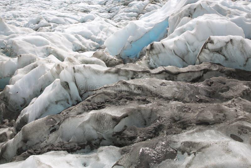 Icescape på en glaciär i Nya Zeeland royaltyfri fotografi
