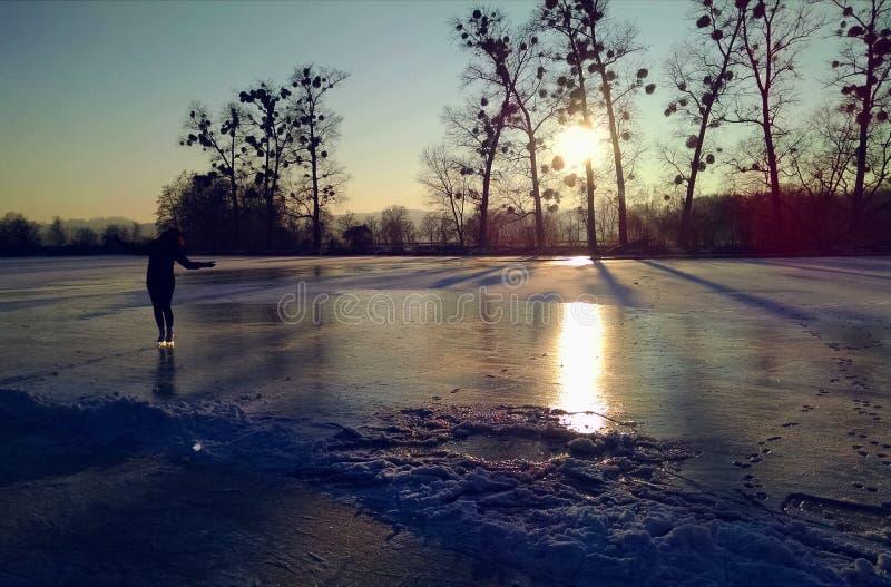 Iceskating natural imagem de stock royalty free