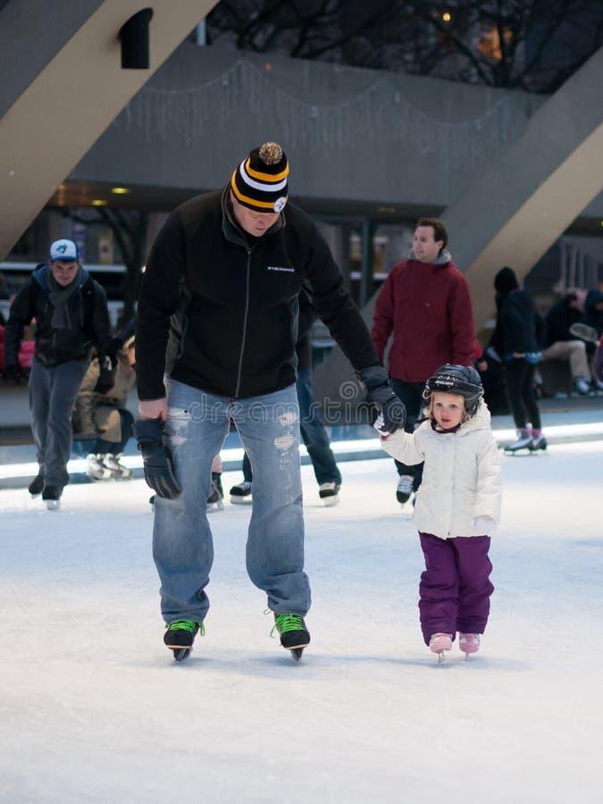 Iceskating in Toronto royalty-vrije stock foto's