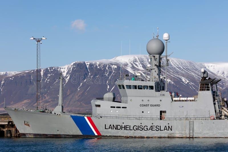 ICGV Thor - ναυαρχίδα της ισλανδικής ακτοφυλακής στοκ φωτογραφία με δικαίωμα ελεύθερης χρήσης