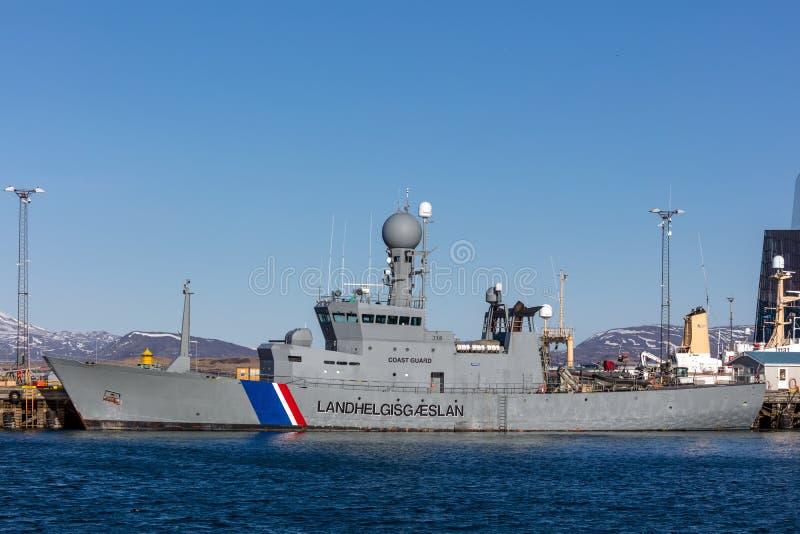 ICGV Thor - ναυαρχίδα της ισλανδικής ακτοφυλακής στοκ εικόνα