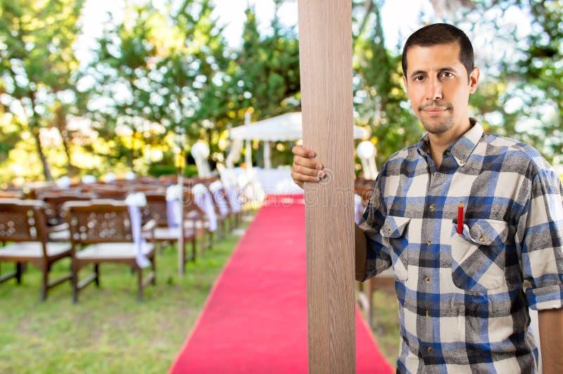 Ich arbeite für die Hochzeit stockfotos